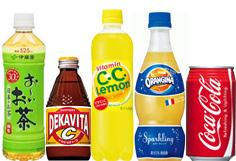 ジュース、お茶などの飲料水類